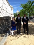 Marianne, Isaac and Jerry Karth on Capitol Hill after their meeting with Congressman Cartwright's office